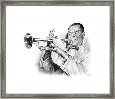 Louis Armstrong Framed Print by Greg Joens