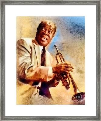 Louis Armstrong, Music Legend Framed Print