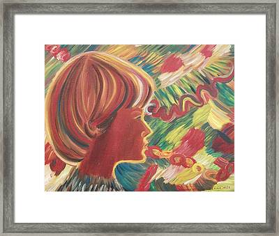 Louis At Christmas Framed Print by Suzanne  Marie Leclair