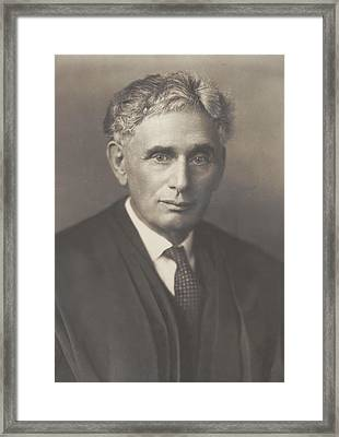 Louis Brandeis 1856-1941, Was Appointed Framed Print