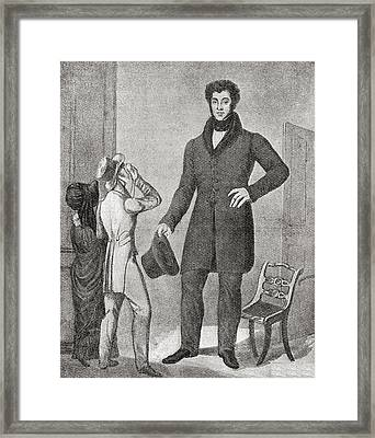 Louis Frenz, Born 1801-  . French Framed Print by Vintage Design Pics