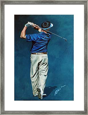 Louis Osthuizen Open Champion 2010 Framed Print by Mark Robinson
