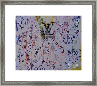Louis Vuitton Monograms Framed Print