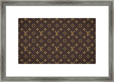 Louis Vuitton Texture Framed Print by Taylan Apukovska