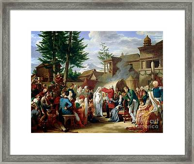 Louis Xviii Couronne  Framed Print by MotionAge Designs