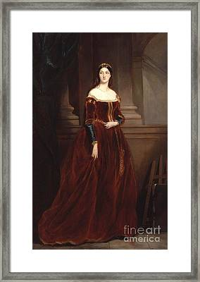 Louisa Anne Framed Print by MotionAge Designs
