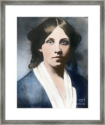 Louisa May Alcott Framed Print by Granger