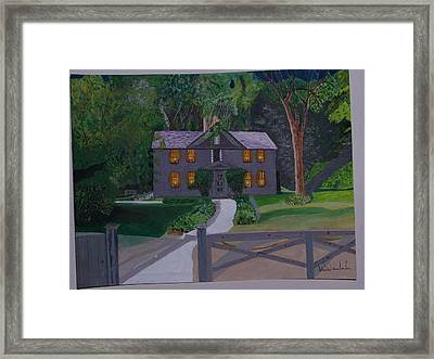 Louisa May Alcott's Home Framed Print