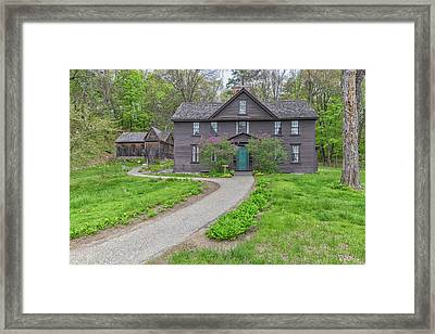 Louisa May Alcotts Orchard House Framed Print by Brian MacLean