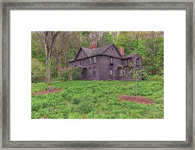 Louisa May Alcotts Orchard House Concord Massachusetts Framed Print