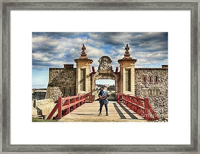 Louisbourg Fortress, Nova Scotia Framed Print