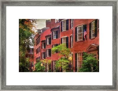 Louisburg Square - Beacon Hill Boston Framed Print by Joann Vitali