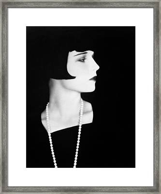 Louise Brooks, 1928. Photograph Framed Print by Everett