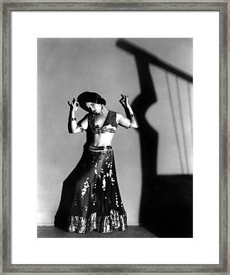 Louise Brooks As A Denishawn Dancer Framed Print by Everett