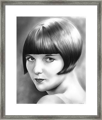 Louise Brooks Framed Print by Greg Joens