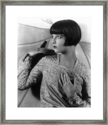 Louise Brooks, Late 1920s Framed Print by Everett