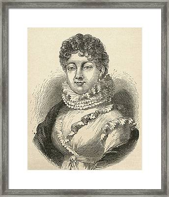 Louise-rosalie Lefebvre, 1755 Framed Print by Vintage Design Pics