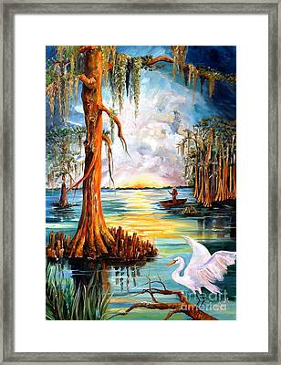 Louisiana Bayou Framed Print by Diane Millsap