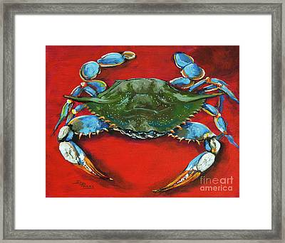 Louisiana Blue On Red Framed Print by Dianne Parks