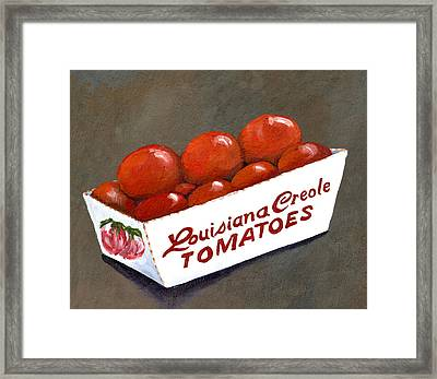 Louisiana Creole Tomatoes Framed Print by Elaine Hodges
