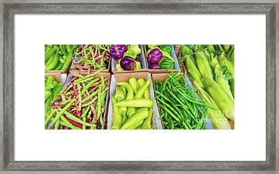 Louisiana Creole Vegetable Platter Framed Print by Kathleen K Parker