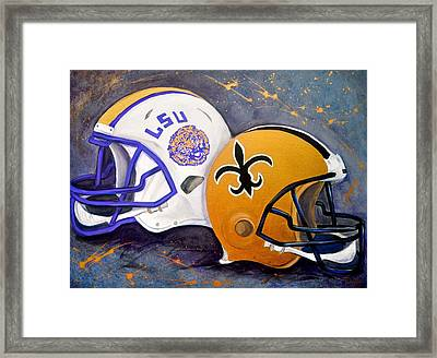 Louisiana Fan Framed Print