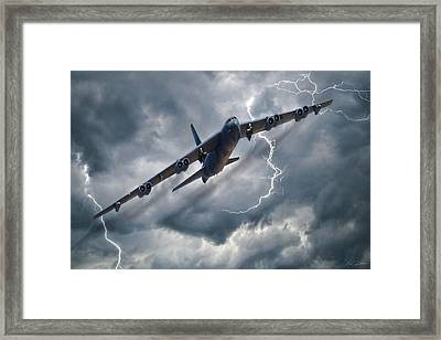 Louisiana Lighting Framed Print by Peter Chilelli