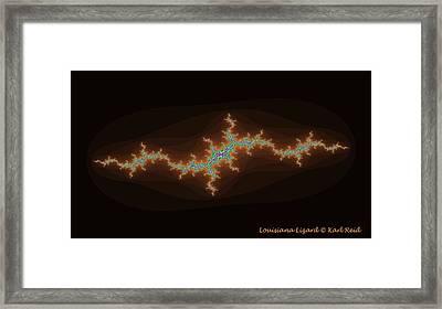 Louisiana Lizard Framed Print by Karl Reid