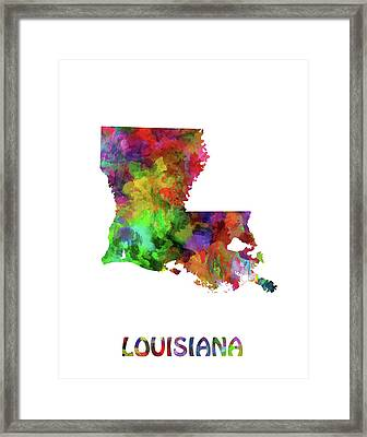 State Of Louisiana Framed Art Prints Fine Art America