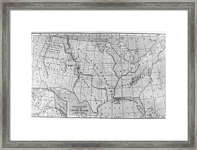 Louisiana Purchase Map Framed Print