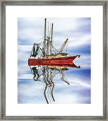 Louisiana Shrimp Boat 4 - Paint Framed Print