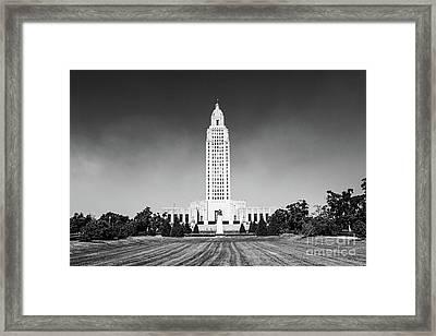 Louisiana State Capitol - Bw Framed Print