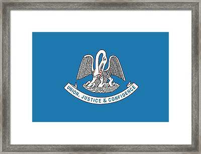 Louisiana State Flag Framed Print by American School