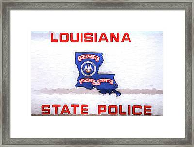Louisiana State Police Framed Print by JC Findley
