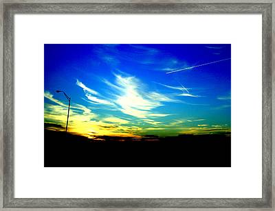 Louisiana Sunset Framed Print by Chris Hung