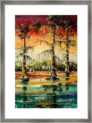 Louisiana Swamp Framed Print by Diane Millsap
