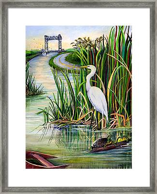 Louisiana Wetlands Framed Print by Elaine Hodges