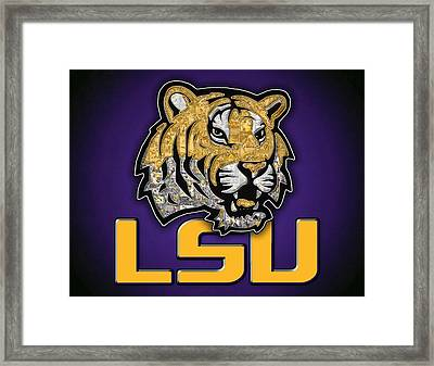 Louisiana State University Tigers Football Framed Print by Fairchild Art Studio