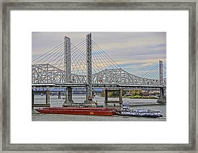 Louisville Bridges Framed Print by Dennis Cox WorldViews