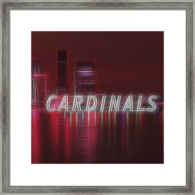 #louisville #cardinals Framed Print