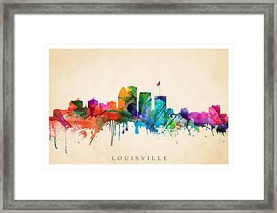 Louisville Cityscape  Framed Print