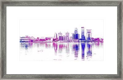 Louisville Skyline Framed Print