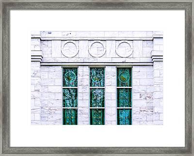 Louisville Temple Details Framed Print