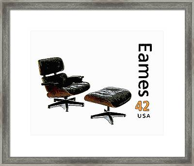 Lounge Chair And Ottoman Framed Print by Lanjee Chee