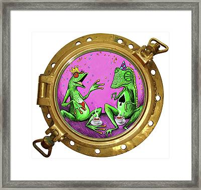 Lounge Lizards Framed Print