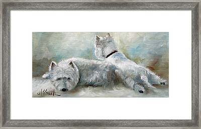Lounge Framed Print by Mary Sparrow