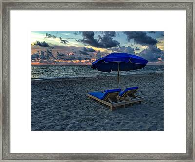 Lounging By The Sea Framed Print