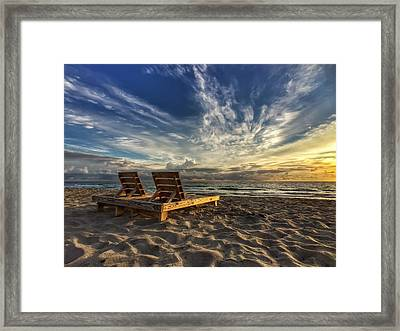 Lounging For 2 Framed Print