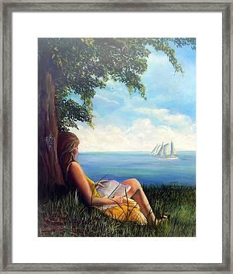 Lounging Goddess Framed Print