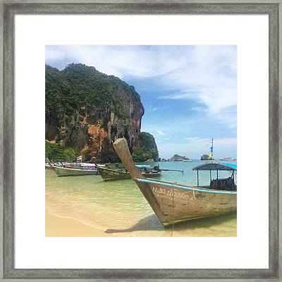 Lounging Longboats Framed Print